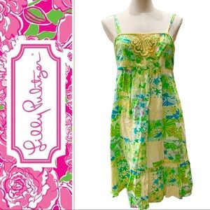LILLY PULITZER Patchwork Tank Dress - SZ 6
